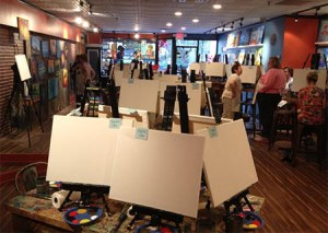 The Muse Paintbar is one of many great locations for art enthusiasts looking for something fun to do in Manchester. (Photo by Kim Wall)