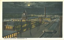 Photo courtesy of Manchester Historic Association | Amory Mills by Night