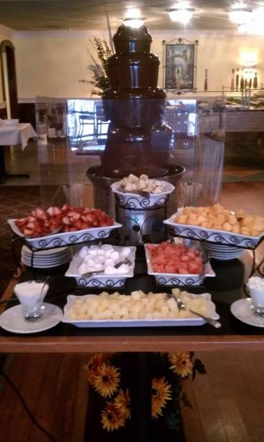 Gauchos | Chocolate fountain from Sunday brunch