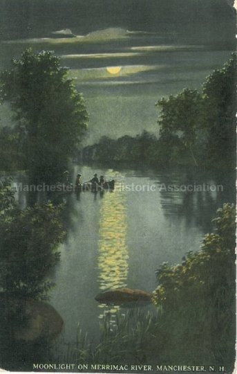 Photo Courtesy of Manchester Historic Association | Moonlight on the Merrimack
