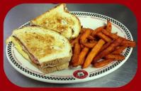 Red Arrow | Chicken Cordon Bleu Melt, served with French Fries