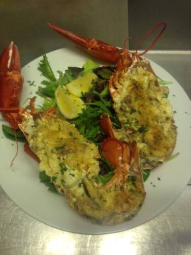 Hooked seafood -- Lobster Thermidor