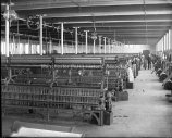 (image courtesy of Manchester Historic Association) | Interior view of a Spinning Room showing Spinning Frames.