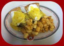 Red Arrow | Pork Pie Eggs Benny with panfries