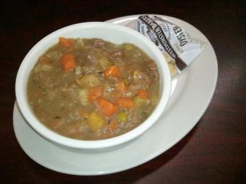 Suddenly Susan's | beef stew with chunks of lean beef, thick gravy and fresh vegetables
