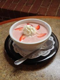Waterworks Cafe - Chilled Creamy Strawberry Soup