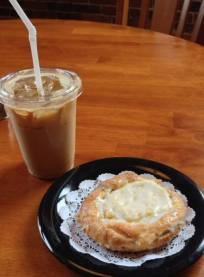 Waterworks Cafe | Iced Lavender Latte with pastry