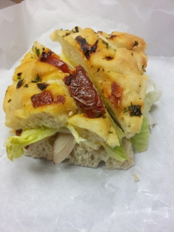 Finesse Pastries | Turkey sandwich on focaccia