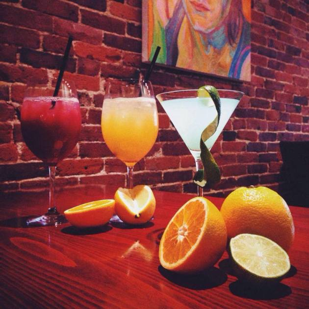 "Firefly | ""Friday-Sunday, July 4, 5, and 6 with our Red Sangria, White Sangria, and Blue Bellini martini - priced at $7.04 each."""