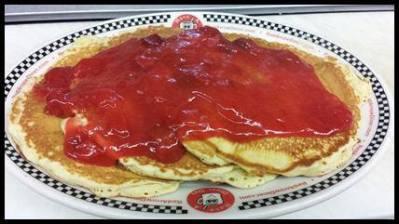 Red Arrow | Banana & Strawberry Rhubarb Pancakes