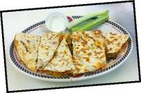 Red Arrow Diner | Buffalo Chicken Quesadilla, served with Ranch or Bleu Cheese
