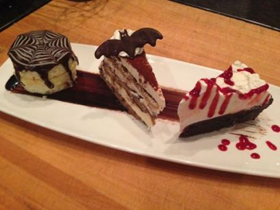 Hanover St Chophouse - Boston SCREAM pie, TERROR-misu and Mississippi BLOOD pie.