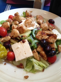 Theo's - marinated chicken salad with feta