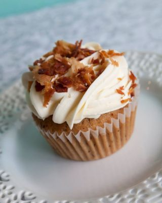 Queen City Cupcakes | Maple Bacon Cupcake