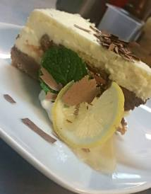 Lowell Street Eatery | Lemon and Chocolate Cheesecake