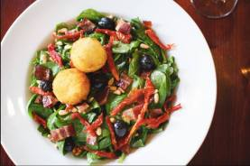 Firefly | Fried goat cheese and spinach salad
