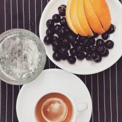 A&E | Blueberry Espresso Spritzer
