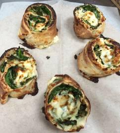 Bada Bing Pizza   spinach, feta and garlic rolls