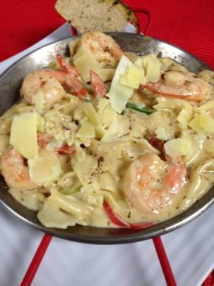 Bayona Cafe | Caribbean Shrimp Alfredo