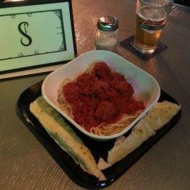 SPITE   spaghetti and meatballs