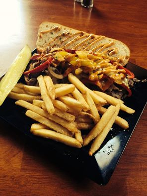 Waterworks Cafe   Chipotle Steak and Cheese Sandwiches