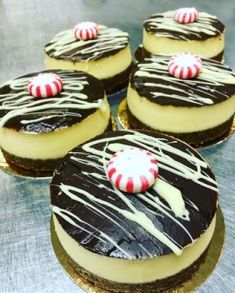 Finesse Pastries | White Chocolate Peppermint Cheesecake