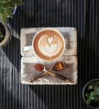 A&E Coffee and Tea | The Honey Cinnamon latte