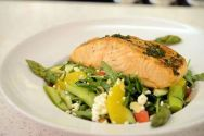 Mint Bistro | Herb Roasted Salmon Salad