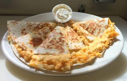 Red Arrow Diner | Buffalo Chicken Mac Quesadilla