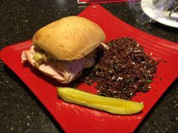 Bayona Cafe- Turkey Dinner Sandwich