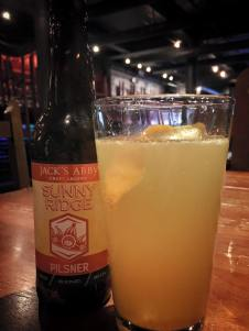 815 - Sunny Ridge shandy- Jack's Abby Sunny Ridge Pilsner, housemade limoncello and fresh OJ