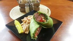 Waterworks Cafe - Special Roast Beef Wrap - Rare roast beef, boursin cheese, cucumber, spinach and roasted red peppers in your choice of a tortilla wrap.