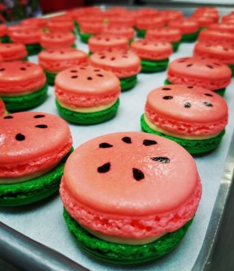Finesse Pastries - Watermelon macarons