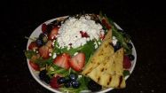 Bayona Cafe | mixed berry spinach salad