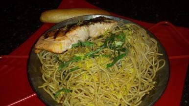 Bayona - Whole Wheat Spaghetti and Salmon