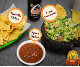 El Rincon | Fresh guacamole. spicy salsa, and homemade tortilla chips