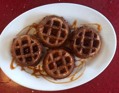 Red Arrow Diner | Pumpkin Caramel Waffles