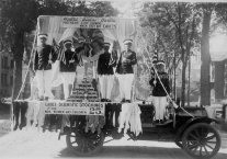 Four Cadets on a Barton Store Float