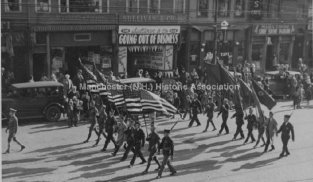 WWI Veterans Marching 1930's